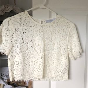 Beautiful lace keepsake top size small